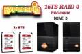 16TB Hyperspin Drive RAID Western Digital My Book Duo